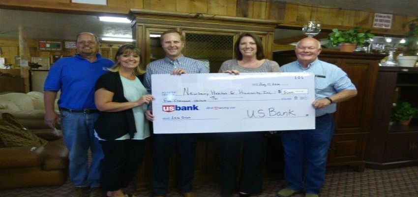 A Check for $5k From  US Banks Grants.