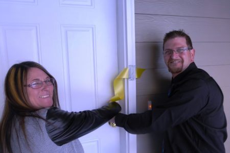 New Homeowners get their Keys